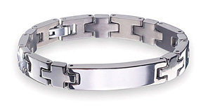 image of Germanium Titanium Bracelet sell in Singapore with 99.9999% germanium purity uniquely cut to A-top shape for maximum strength